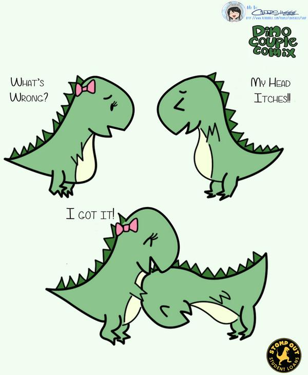 Love is scratching each other's head... #terrafossil #dinowine #dinocouplecomix http://t.co/aciAa9zxO1