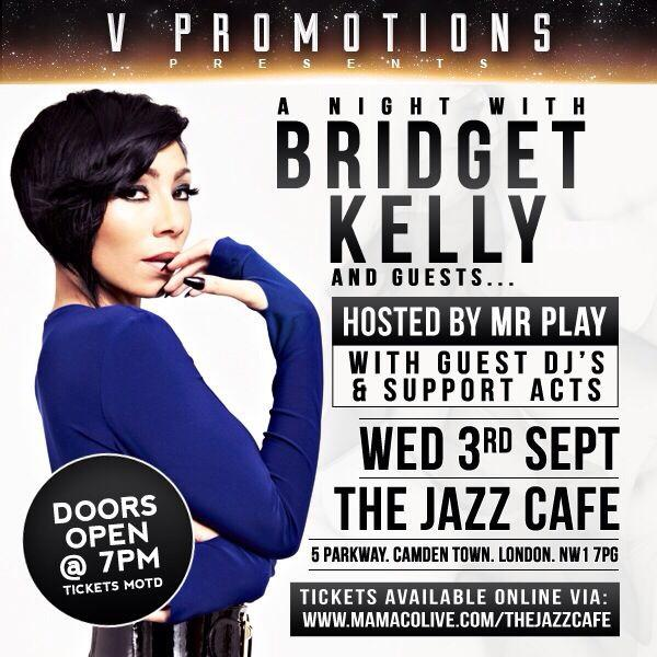 London you need to be here sept 3rd to see @IamBridgetKelly live last show was sold out be there early #TIG #LetsWork http://t.co/EpoFpQouyF