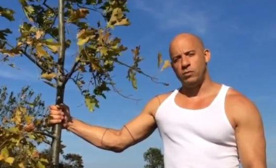 Melhor do q o desafio do balde de gelo! Vin Diesel quer q vc plante uma #árvore: http://t.co/M8BM2GRK4c http://t.co/Lprd1lLeCP