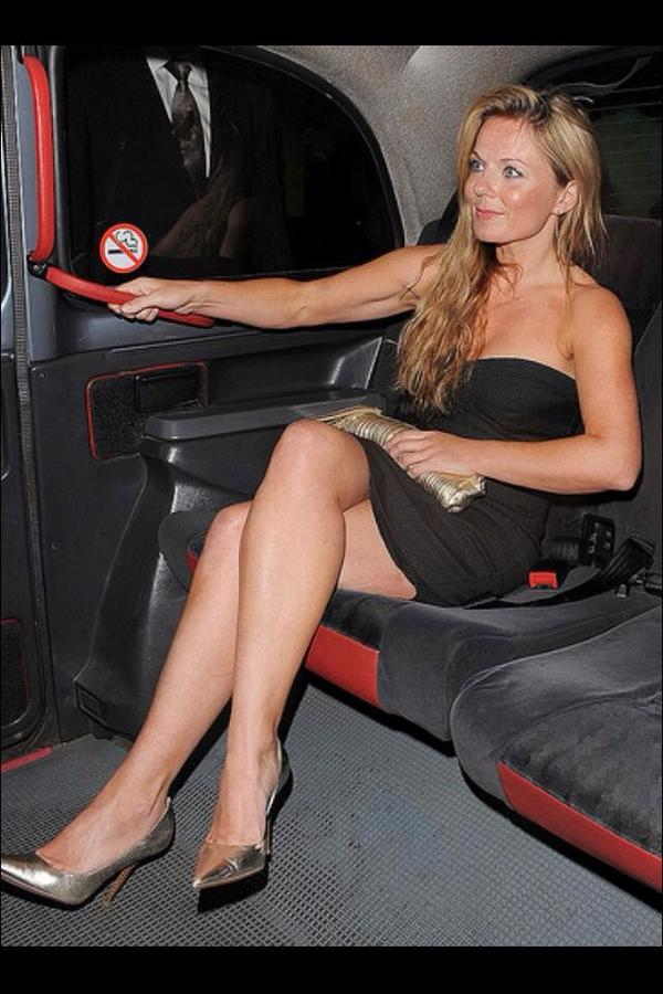 uk celebs in heels on twitter geri halliwell milf legs heels