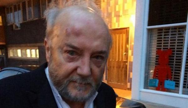 Anti-Israel limey MP George Galloway gets the snot beaten out of him