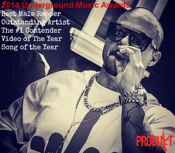 Bronx Rapper #Produkt Nominated for a Record Breaking 5 Underground Music Awards #UMA http://t.co/Sx0ERpCz1L http://t.co/ZuKdOgDBHV