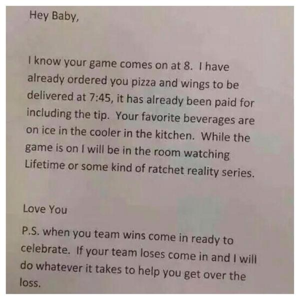 """THE FITZ On Twitter: """"My Wife Wrote Me The Sweetest Letter"""