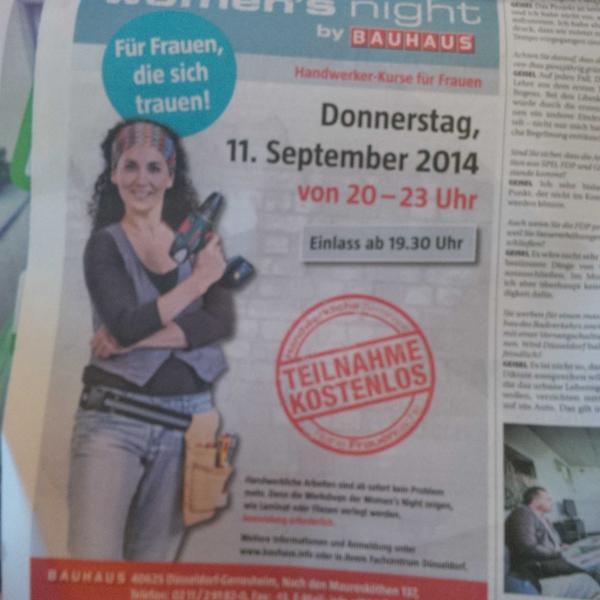 Claudia Tödtmann On Twitter Handwerkerkurs Für Frauen Im Bauhaus