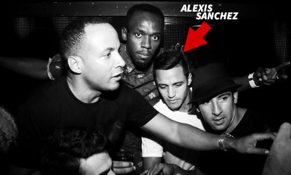 Arsenals Alexis Sanchez parties with Usain Bolt at Chinawhite Nightclub [Video]
