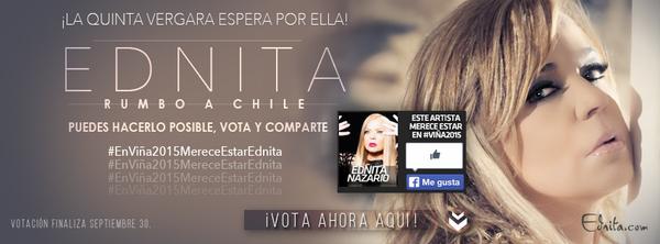 Puedes hacerlo posible, Vota y RT. Accede al siguiente enlace http://t.co/mjrGusJqqE #EnViña2015MereceEstarEdnita http://t.co/y7wE6jDcYH
