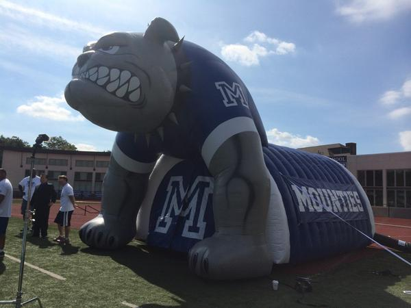 "Montclair football has a new addition to the family: they call it ""The Beast."" http://t.co/weGkjnuHRX"