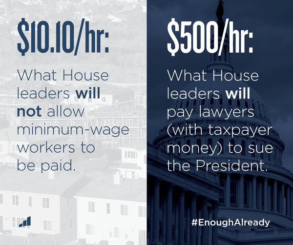 Retweet if you agree: House leaders don't have their priorities straight. #EnoughAlready http://t.co/Hc3YIlTsRs
