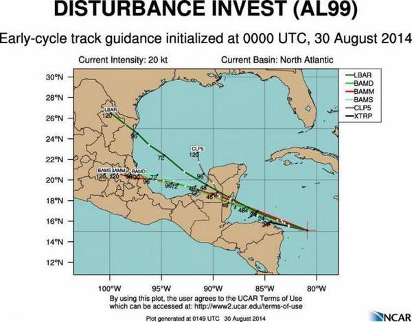 Mal tiempo con potencial ciclónico afectará desde hoy la Península de Yucatán. http://t.co/WXNDVJEnJm http://t.co/6PoS3UjUHw