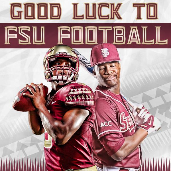 Good luck to @FSU_Football and our very own Jameis Winston tonight. #FSUGameday #Noles http://t.co/0ynUih4r1G
