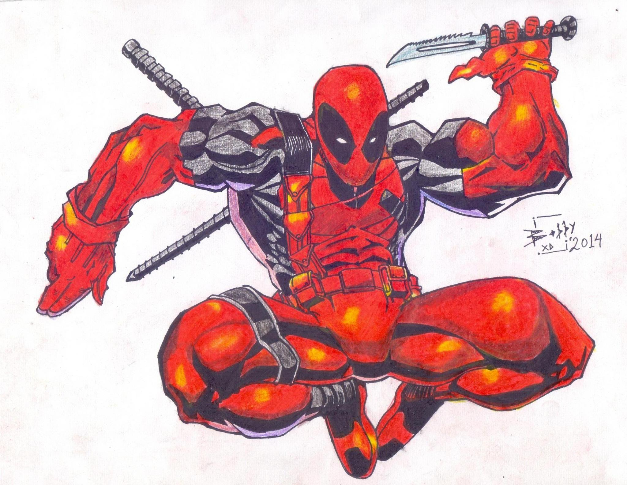 Leeplay On Twitter Bobby Xdee Deadpool Ink Colored Pencil Drawing Art Ink Fanart Pen Color Pencil Http T Co Athymokps1 Love Deadpool Nice Job