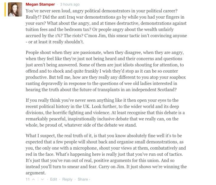 RT @megzaz: For those of you on the mobile site who can't see my comment -my response to Jim Murphy's Spectator article nonsense. http://t.…