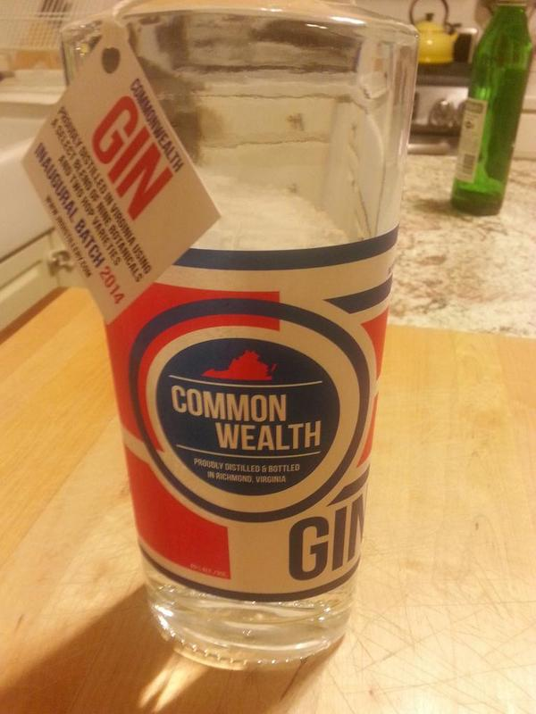Cracking open my first bottle of Commonwealth Gin from @JRspirits http://t.co/wPFuFo4UFu