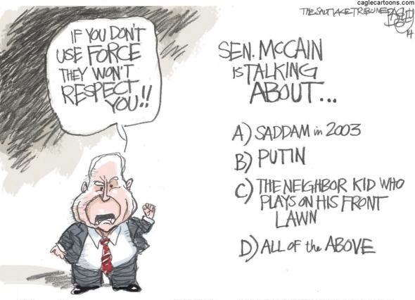 If it's Sunday, it's #MTP aka McCain Talking Points. Arm some1, bomb some1 else, blame Obama http://t.co/cdVMJiEC06