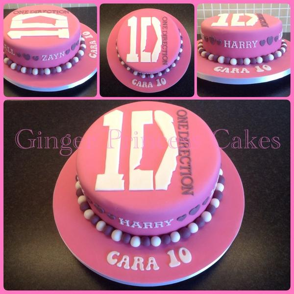 Remarkable Ginger Princesscakes On Twitter 1D Birthday Cake Pink Funny Birthday Cards Online Elaedamsfinfo