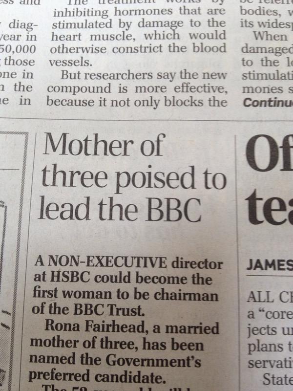 Newspaper's Sexist Headline Misses Executive's Long Resume
