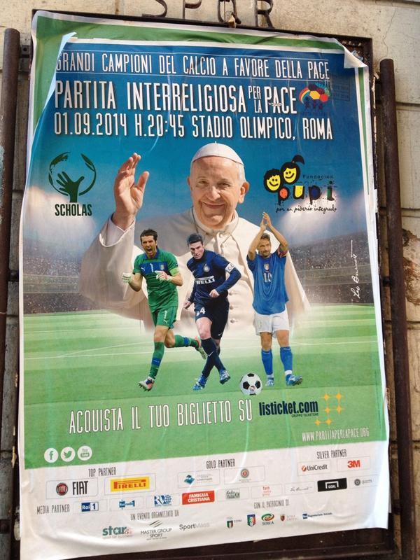 Messi, Mascherano y Martino participarán mañana del Partido por la Paz impulsado por el Papa