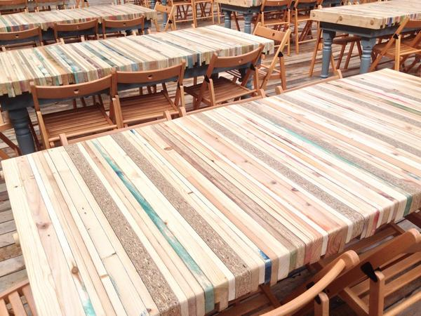 how to make kitchen worktops from scaffold boards