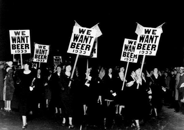 RT @HistoryInPics: Women demonstrating against Prohibition, 1932 http://t.co/HTNZGNZjNW