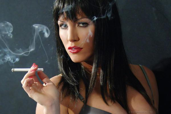 Sexy smoking transsexual goth