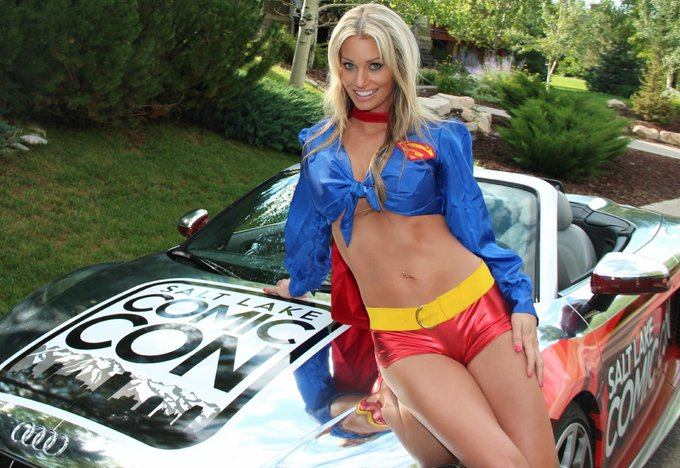 Only four days until @slcomiccon! #supergirl is stoked! I've got a couple of new outfits to try out too