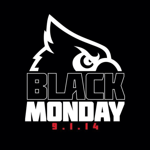 CARDS Fans a Black Out Means Wear Black!! No Red Shirts, No White Shirts, & ONLY @the_redbird7 is allowed topless! :) http://t.co/Ie7Gg2zibz