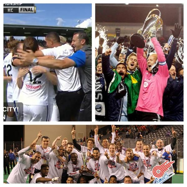 Kansas City is home of the current MLS, NWSL, and Indoor Soccer Champions. @SportingKC @FCKansasCity @COMETSMASL http://t.co/4YKeqmCfjp