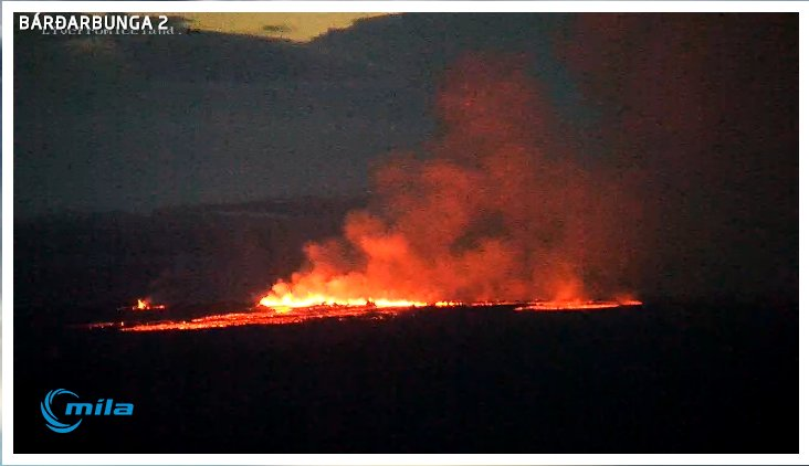 Iceland's Bardarbunga Volcano Puts on Breathtaking Lava Display
