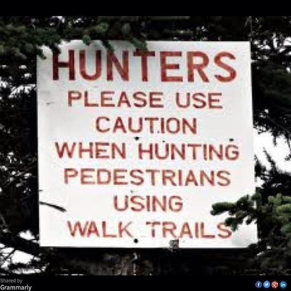 A most unwelcome sign to encounter when you're on foot (something's definitely afoot). [Courtesy of Tim Martin] http://t.co/kHfmTD4Tvl