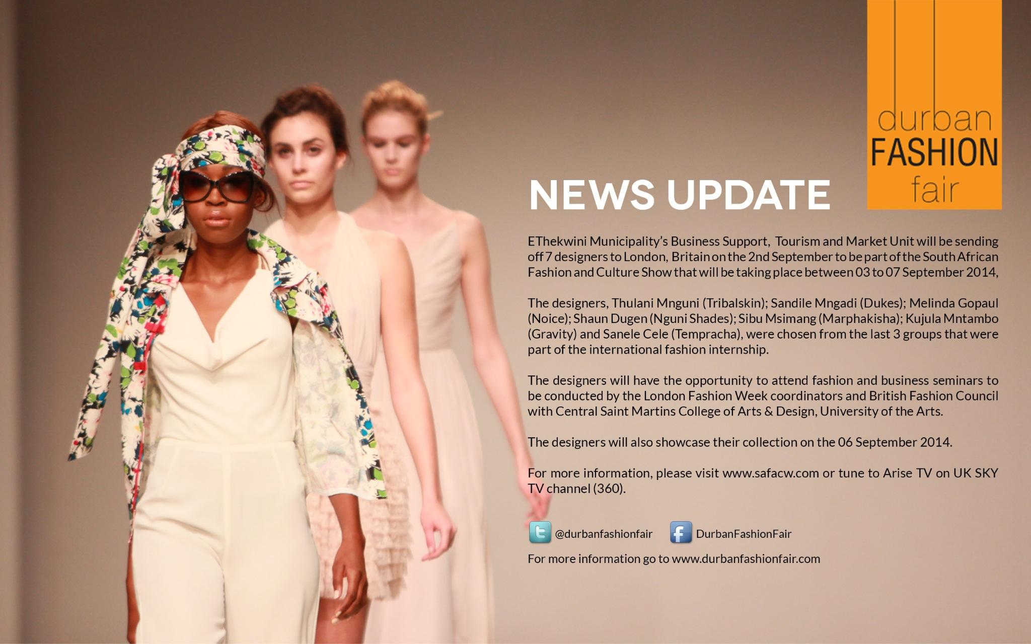 Durbanfashionfair On Twitter 7 Designers Will Be Part Of South African Fashion And Culture Show That Will Be Taking Place In London 3 7 Sept 2014 Http T Co Lkjqdgnvgd