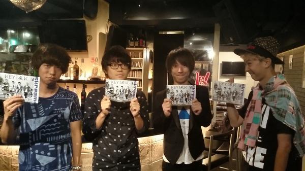 KEYTALKメンバー全員取材終了!10/22リリースの3rdシングル『MONSTER DANCE』についてお話を伺いました。インタビューは10/1発行のマガジンに掲載、ウェブでは恒例の動画コメントも公開しますのでお楽しみに!!