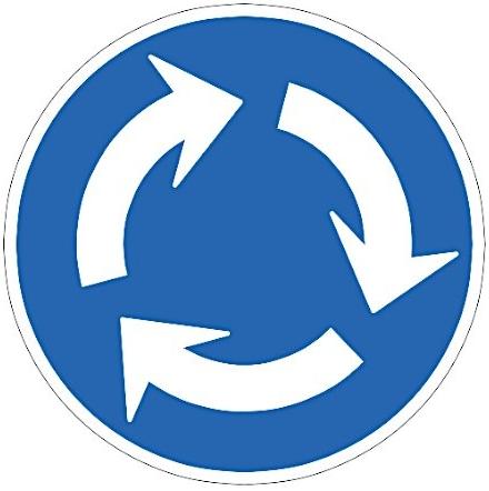 今日(9月1日)から施行された新標識「環状交差点」。既に免許取ってる人の場合、新しい標識が増えても『知りませんでした』じゃ済まないから気をつけないとだよね…w pic.twitter.com/bmi9X4eu0U