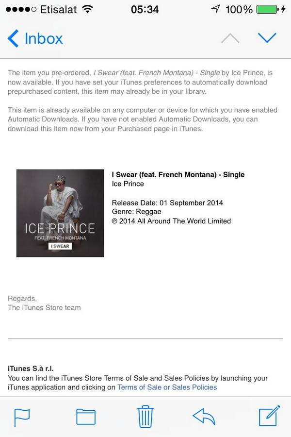 The real shit now is my #iSwear by @Iceprincezamani ft @FrencHMonTanA ... Support your own people!!! http://t.co/tmPYTyDWBo