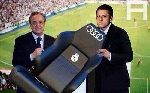 Hernandez presented with his bench at Real Madrid. All the latest virals here http://t.co/BQR21EKs66 http://t.co/CFi0UWpXhn