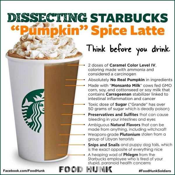 Watch out for that @Starbucks pumpkin spice latte! ;) http://t.co/IFu6J0fVVl