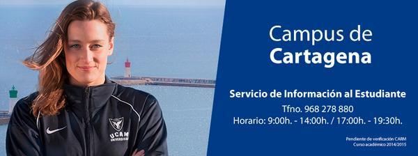 Queda muy poco para que comience el curso en el nuevo UCAM Campus de #Cartagena. Infórmate en http://t.co/ho7uXmZejk http://t.co/ne4MuXOr0b
