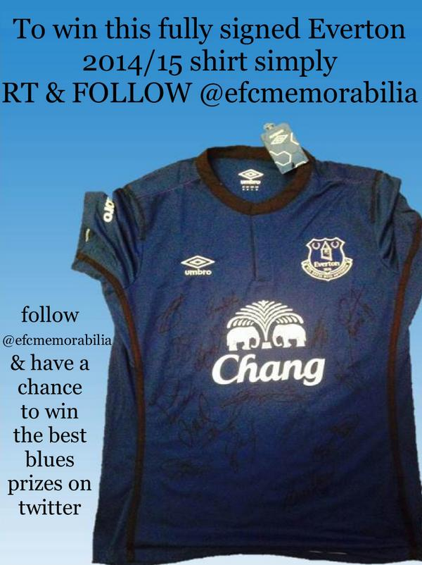 #COMP Follow @efcmemorabilia & RT 2 #WIN fully signed 14/15 #EVERTON shirt #CONNECTINGBLUES @Followtonians @TOFnews http://t.co/lhJnvtPfe3