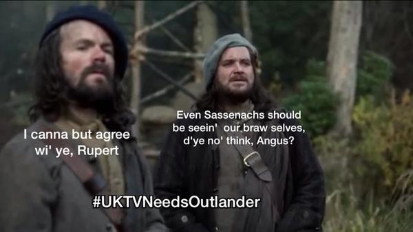 The #UK Needs to see the cheery duo Angus and Rupert @GrantORourke @Heughan @caitrionambalfe #UKTVNeedsOutlander http://t.co/uJPx9Vj59K