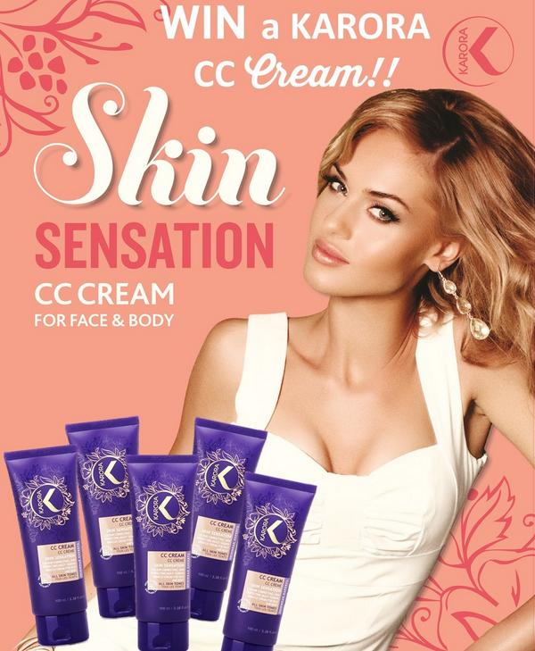 GIVEAWAY MONDAY! CC season has arrived - Retweet to Enter to win 1 of 5 KARORA CC Cream's for Face & Body. Good luck! http://t.co/U1HN3i4JYR