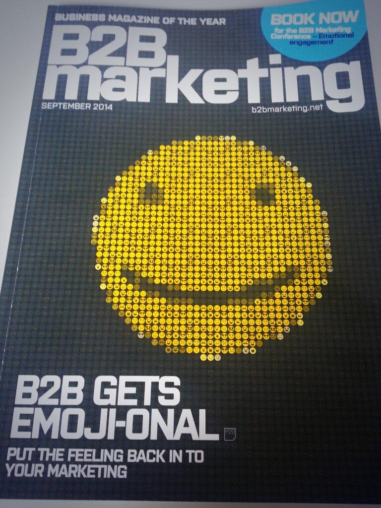 RT @Maxineb2b: It might be a rainy Monday, but hopefully the September issue of @MarketingB2B made you smile http://t.co/3TzWJUcYh3