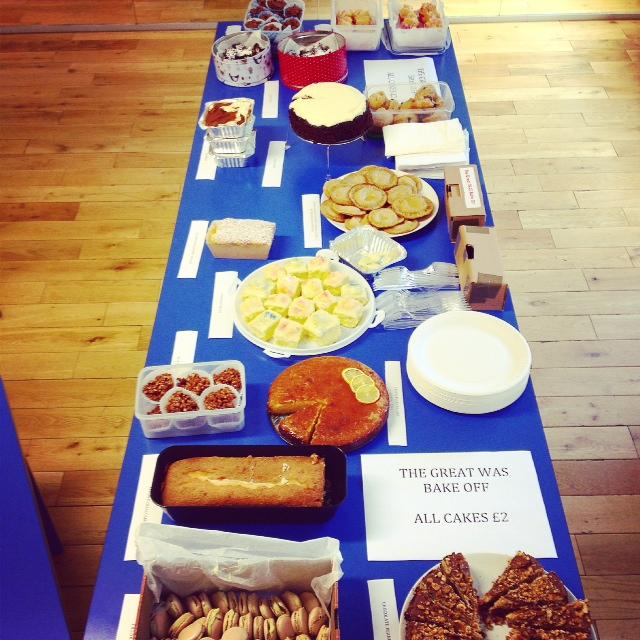 We've been baking (and eating) to raise money for Homerton Hospital today - congrats on the win @hannahjones http://t.co/VZON9TS91C