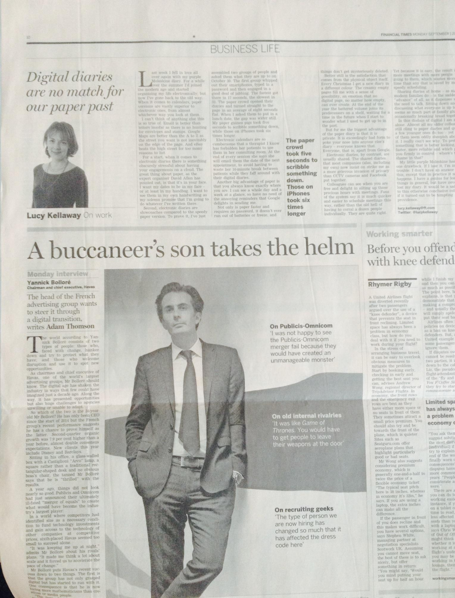RT @HavasGroup: a buccaneer's son at the helm of #Havas via @FT http://t.co/WItmRXLi6l