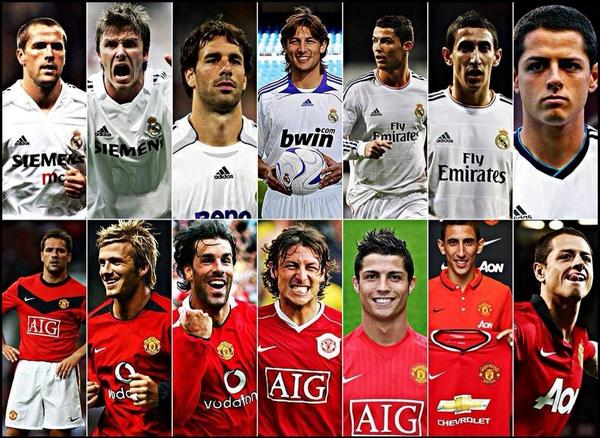 Manchester United and Real Madrid. Past and Present #mufc #rmfc http://t.co/XbNKYgE9Wr