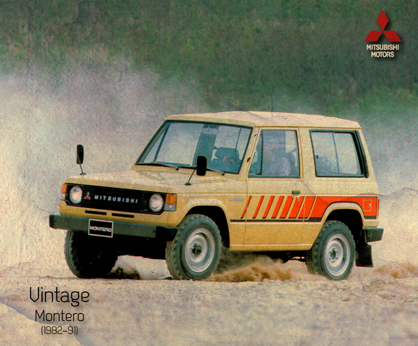 #Mitsubishi Vintage, Montero  1982-91. Hizo su debut en octubre de 1981 y se puso en marcha en mayo de 1982. http://t.co/QLHOtcRmSv