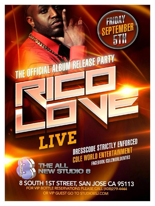 THIS FRIDAY ITS GOING DOWN IN SAN JOSE FOR @iamricolove ALBUM RELEASE PARTY @ STUDIO 8 HOSTED BY #HODMODELS http://t.co/MVqTCSSKxi