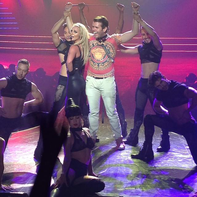 Still pinching myself! I was Britney's slave - and I LOVED it!!! @britneyspears #PieceOfMe @PHvegas #BritneySpears http://t.co/lrIbN3Zd0K