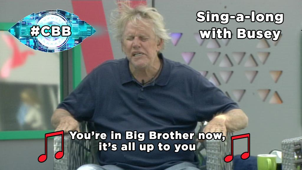 The voice of an angel. Here's more of Busey's belter: http://t.co/TQfQzdV243 #CBB http://t.co/xqZCfEvZop
