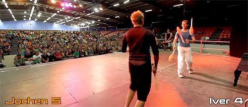 Epic Battle at the European Juggling Convention 2014 http://t.co/9QGLlLPAdH http://t.co/jtb2yKmFLq