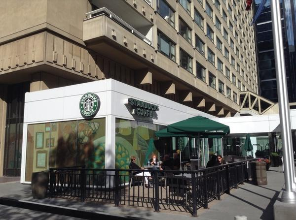 Mini Starbucks coffee at a parking garage in Calgary (Image Credit: Brent Toderian)