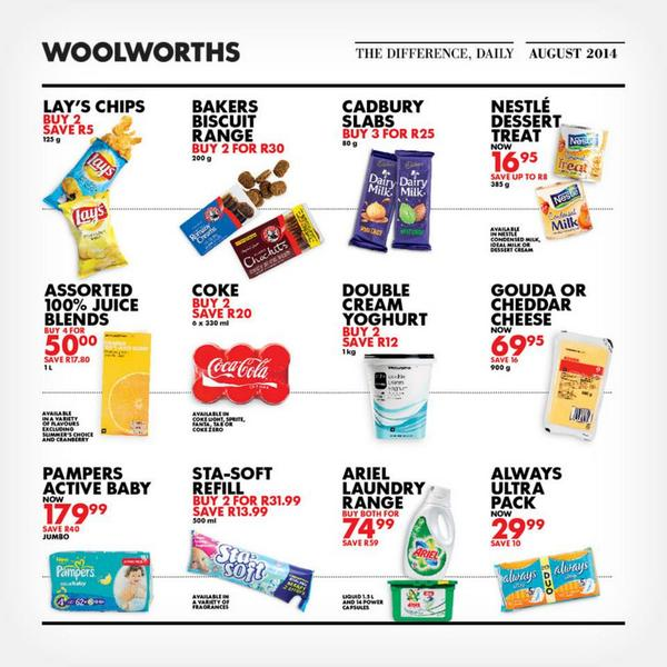 Woolworths discount coupons